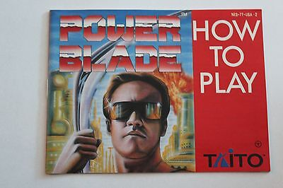 Power Blade Manual, Instruction Book, Nintendo, NES.