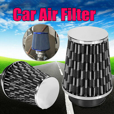 Large Black Cone Universal Air Filter Induction Kit Sports Race Car Mesh Vehicle