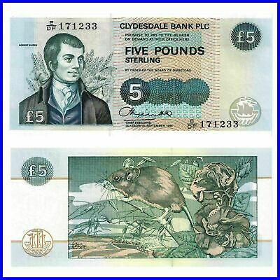 Schottland Scotland Clydesdale Bank 5 Pounds 1994 Unc.Pick 218b