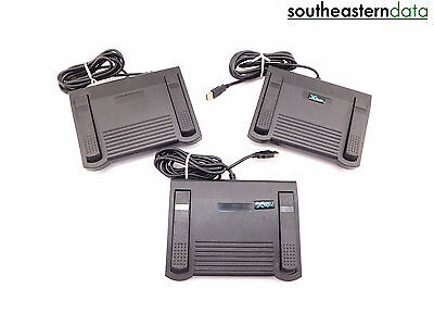 LOT OF 3 P.I. Engineering X-Keys XF-10-US Foot Pedal for Parts (UNTESTED)