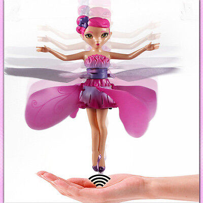 Cute Plastic Funny Game Flying Fairy Princess Doll Infrared Induction Toys Gift