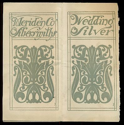 1920's The Meriden Company(International Silver Co.) Silversmiths Booklet