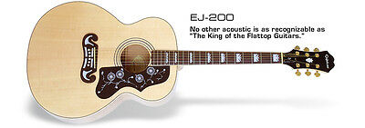 Epiphone EJ-200 Acoustic Guitar (Natural) - Perfect Condition - Free Hard Case