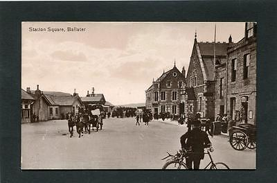 Ballater Aberdeen - Animated Scene Station Square RP c1910