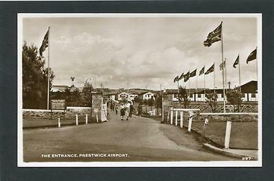 Prestwick Ayrshire - Entrance to Prestwick Airport RP c1950