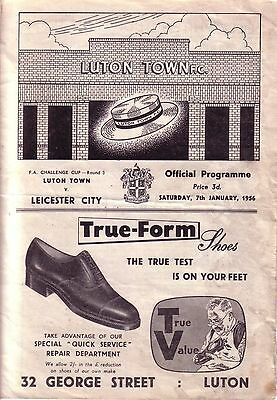LUTON v LEICESTER 1955/56 FA CUP 3RD ROUND