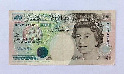 RARE & Collectable Bank of England Kentfield Banknote £5 Five Pounds