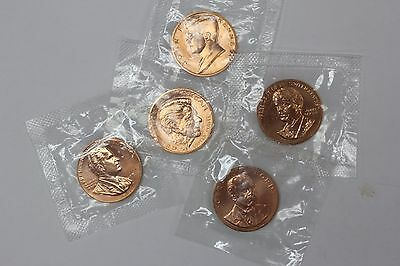 President Copper Toned Medal Coin in US MINT Package - Lot of 5 Coins