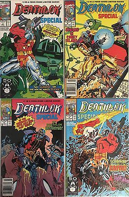 Set of 4: Deathlok Special # 1 - 2 - 3 - 4  Complete Marvel Comics 1991 VF#