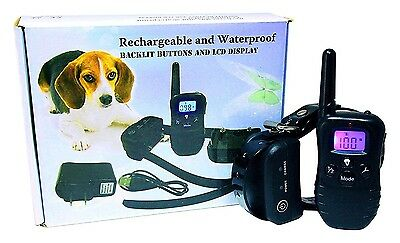 Fully Submersible, Waterproof & Rechargeable Remote Dog Training Collar & E-book