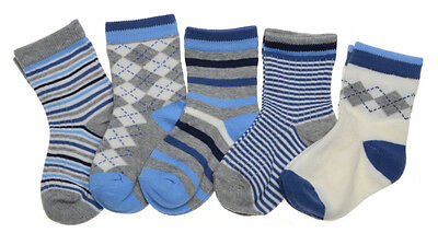 5 pairs of Baby Boys socks - Variety of Sizes available