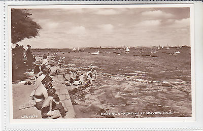 Vintage Postcard Boating & Yachting At Seaview, Isle Of Wight. Fort In Solent