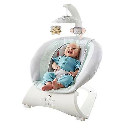 Fisher Price vibrating musical Sweet Surroundings Deluxe Baby Bouncer OPEN BOX