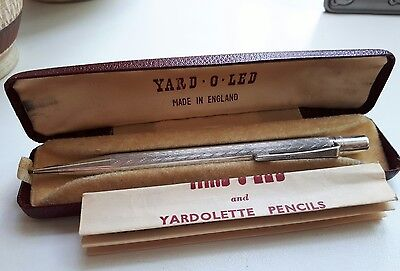 Sterling Silver 925 yard.o.lead propelling pencil pen orig box instructions 1958