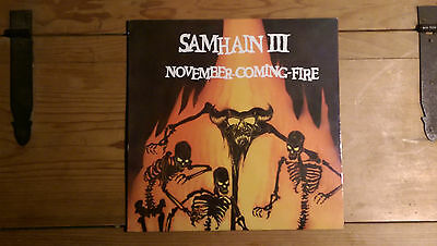 Samhain ~ November-Coming-Fire ~ RARE Translucent  LP ~ Plan 9 ~ PL9-07 ~ 1989