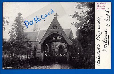 Early Postcard Newland Church Malvern Worcestershire - 1905 Worcester Postmark