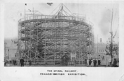 POSTCARD   EXHIBITIONS  FRANCO-BRITISH  1908  The Spiral  Railway  RP