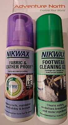 Nikwax Fabric & Leather Spray with Footwear Cleaning Gel (TWIN PACK)