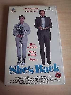 Vintage Original VHS Shes Back Big Box Video Carrie Fisher Rental