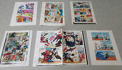 50 PAGES of 1 of a kind old Original Marvel/DC Comics color guide production art