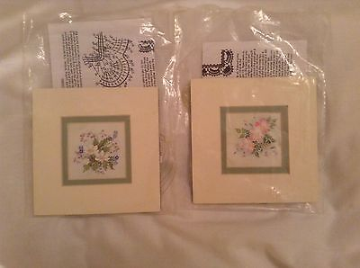 2 Lace Making Kits To Make Picture Borders WOODEN Pillow LACE MAKING BOBBIN