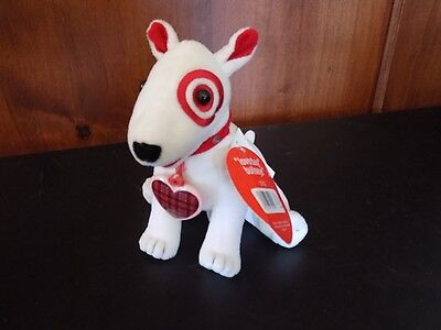 "Target Bullseye ""LOVER BOY"" Stuffed Toy  2002   tags attached Heart Valentine"