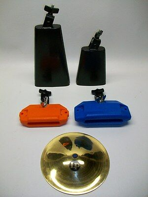 LP Latin Percussion Cow Bell Jam Block Bell Lot