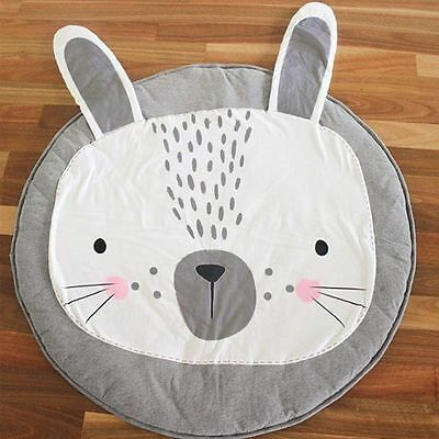 Crawl Gym Rug Mat Baby Kids Play/Sleep/Rest Cotton Blanket Large Rabbit Cute New