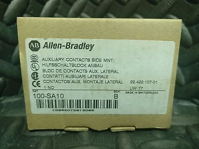 (Lot Of 3) Allen Bradley 100-Sa10, 100-Sa02 & 100-Sa20 Auxiliary Contact New
