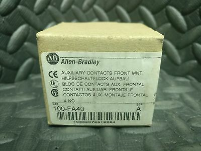 Allen Bradley Auxillary FRONT MOUNT Contact 100-FA40  NEW