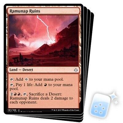 RAMUNAP RUINS X4 Hour Of Devastation HOU Magic MTG MINT CARD