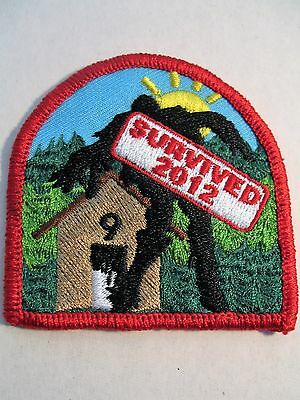 Boy Scouts Canada I Survived 2012 Cubs Scouting Embroidered Patch Badge