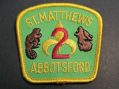 Boy Scouts Canada St. Matthews Abbotsford Cubs Scouting Embroidered Patch Badge