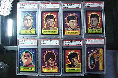 Star Trek Topps (22) STICKER SET ALL PSA 5's graded Lot Trading Card 1976 Wars 1