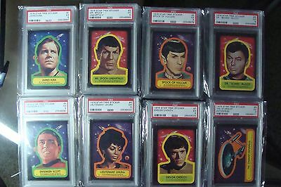 Star Trek Topps (22) STICKER SET ALL PSA 5's graded Lot Trading Card 1976 Wars 2