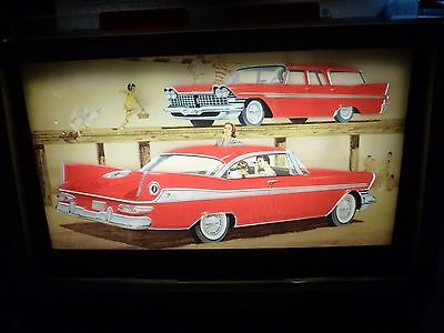 The Ultimate 1959 Chrysler Plymouth Lighted Dealer Display ! ! !