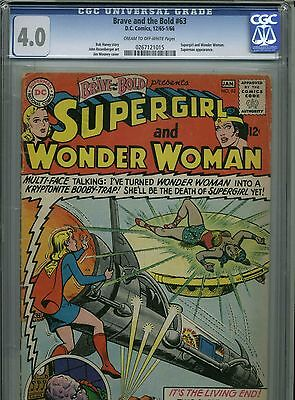 The Brave and the Bold #63-January,1966 - CGC 4.0 - (Supergirl and Wonder Woman)