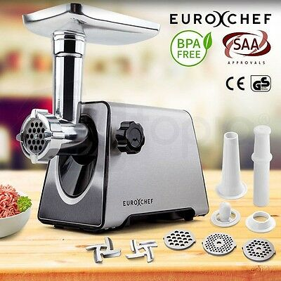 Electric Mincer Meat Grinder Sausage Maker Stainless Steel Stuffer Kitchen Food