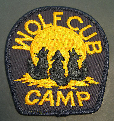 Boy Scouts Canada  Wolf Cub Camp Embroidered Patch