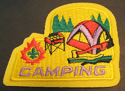 Boy Scouts Canada  Camping Embroidered Patch Tent Axe