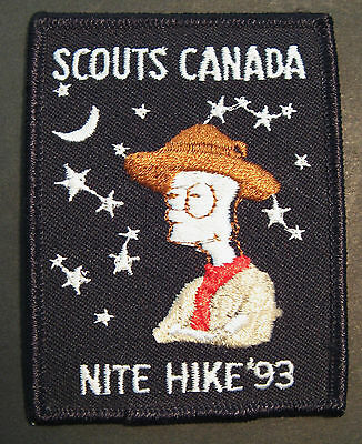 Boy Scouts Canada Nite Hike 1993 Embroidered Patch