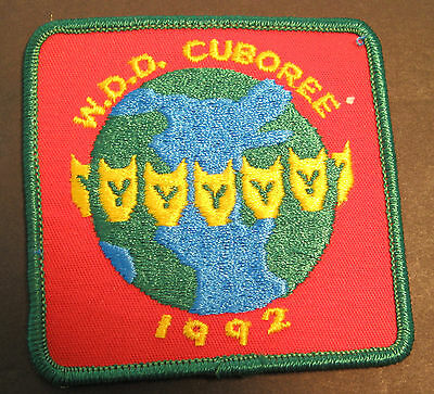 Boy Scouts Canada World Cuboree 1992  Embroidered Patch