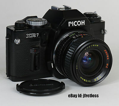 Used Ricoh XR7 XR-7 35mm SLR Film Camera with Osawa 28mm F2,8 Lens Please Read