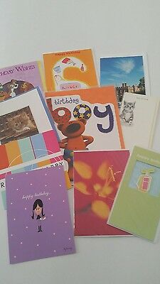 Job Lot Of 10 Quality Assorted Open Birthday  Cards