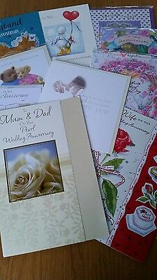 Job Lot 10 Quality Assorted Anniversary Occassion Greeting Cards
