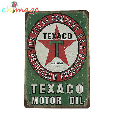 TEXACO MOTOR OIL Vintage Tin Sign Bar pub garage home Wall Decor Metal Poster