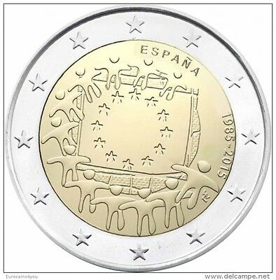 2 euro  2015 Espagne  Spanien España -  30th Anniv.of the European Flag