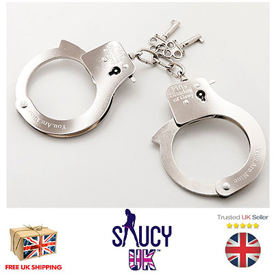 Fifty Shades of Grey  You Are Mine Metal Handcuffs - UK Seller