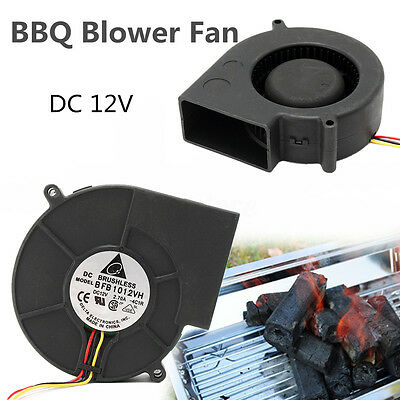 DC12V 4500RPM Brushless Cooling Turbine Air Blower Fan For BBQ Barbecue Stove