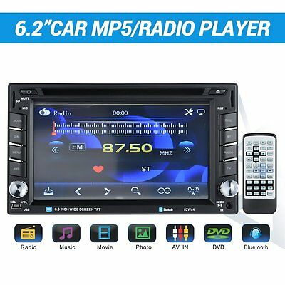 Bluetooth Car Audio Radio MP5 Player - 6.2 Inch Touch Screen with 2 DIN In Dash